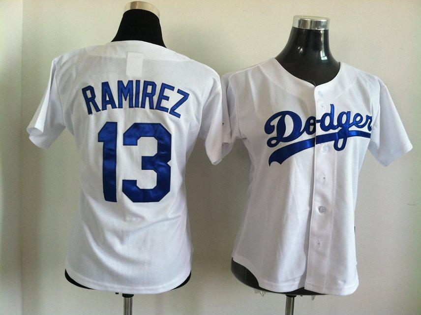 2014 NEW MLB Los Angeles Dodgers women 13 Ramirez white jerseysv