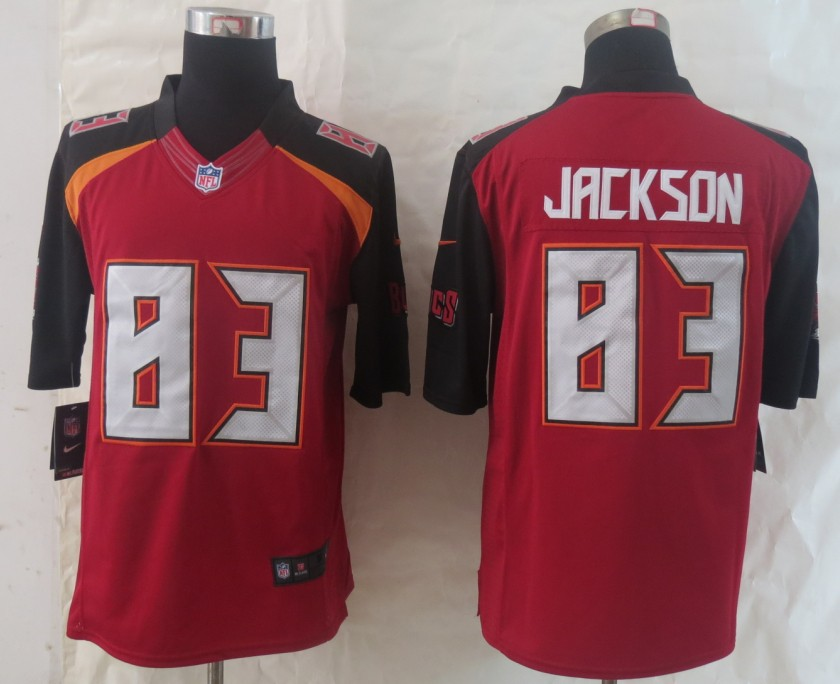 2014 New Nike Tampa Bay Buccaneers 83 Jackson Red Limited Jerseys