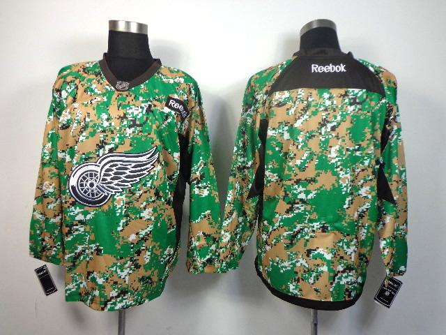 Detroit Red Wings blank green camo jerseys