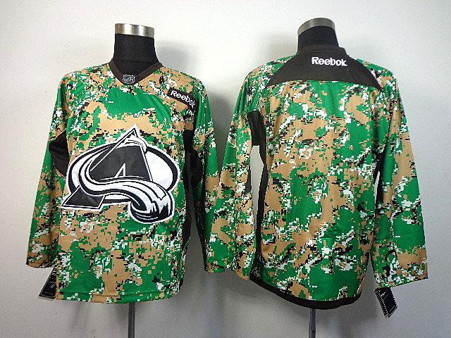 Men's Colorado Avalanche Blank Green Camo Jersey