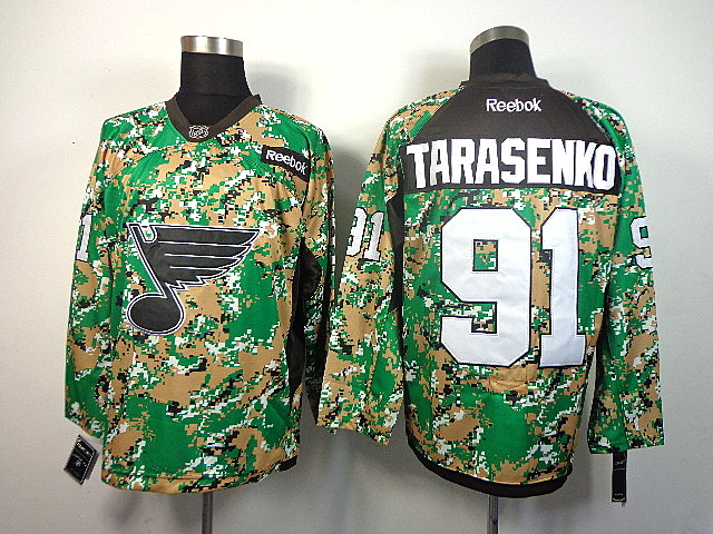 Men's St. Louis Blues Vladimir Tarasenko #91 Green Camo Jersey