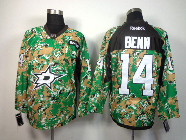 NHL DALLAS STARS 14 benn green camo jerseys
