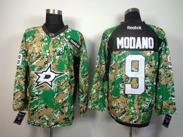 NHL DALLAS STARS #9 modano green camo jerseys
