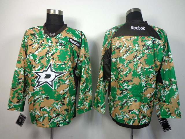 NHL DALLAS STARS blank green camo jerseys