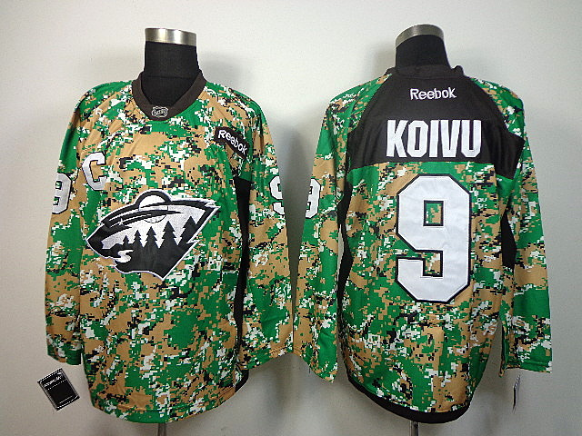 NHL Minnesota Wild 9 Koivu camo jersey