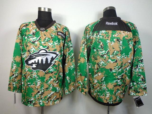 NHL Minnesota Wild blank camo jersey