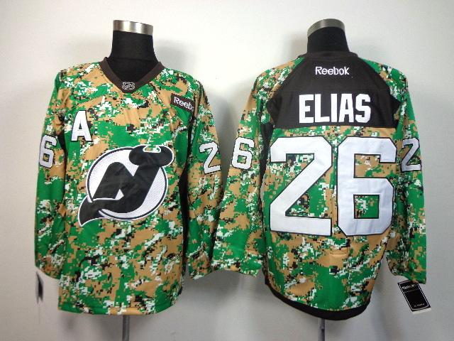 NHL New Jersey devils #26 ELIAS green camo jerseys