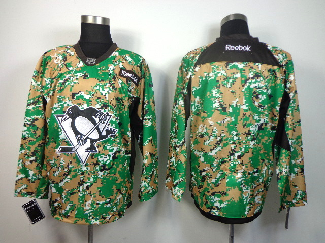 NHL Pittsburgh Penguins blank green Camo jerseys