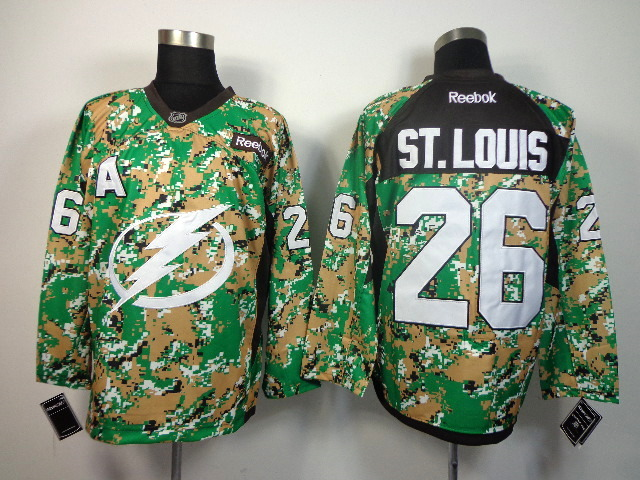 NHL Tampa Bay Lightning 26 ST.louis camo Jersey
