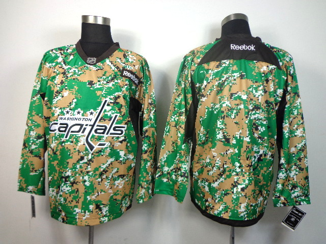 NHL Washington Capitals blank green camo jerseys
