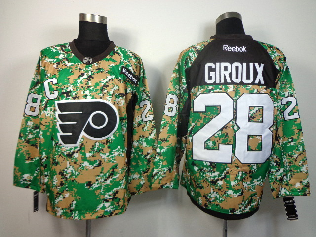 Philadelphia Flyers #28 Claude Giroux green camo jerseys