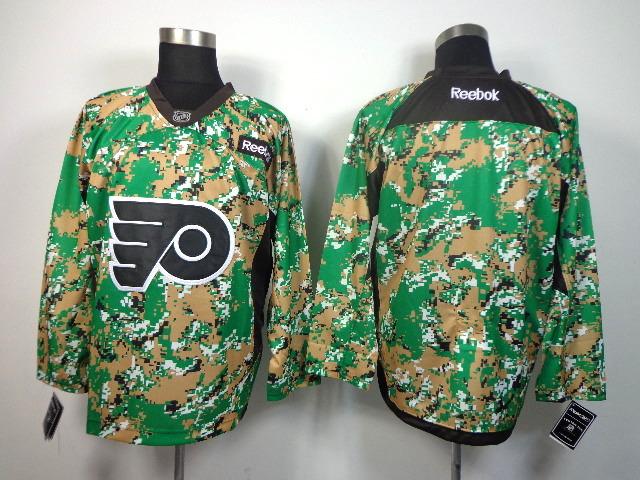 Philadelphia Flyers blank green jerseys
