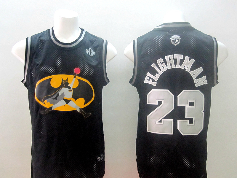 Chicago Bulls 23 Michael Jordan Flightman black jerseys