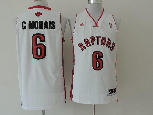 NBA Toronto Raptors #6 C Morais White