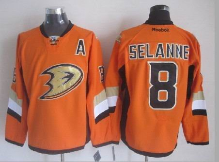 Anaheim Ducks #8 Teemu Selanne Orange Stadium Series
