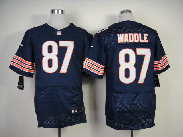 Nike Nfl Chicago Bears #87 Waddle Blue Throwback Jersey