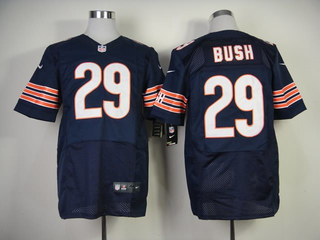 Nike Nfl Chicago Bears 29 Bush blue elite jersey