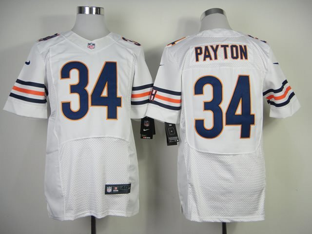 Nike Nfl Chicago Bears 34 Payton white throwback jersey