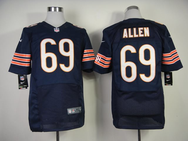 Nike Nfl Chicago Bears 69 Allen Blue Elite jersey