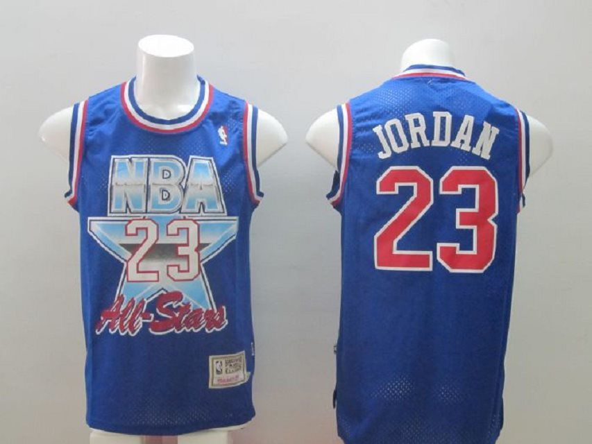 NBA 1992-1993 All-Star #23 Michael Jordan Blue Swingman Throwback Jersey