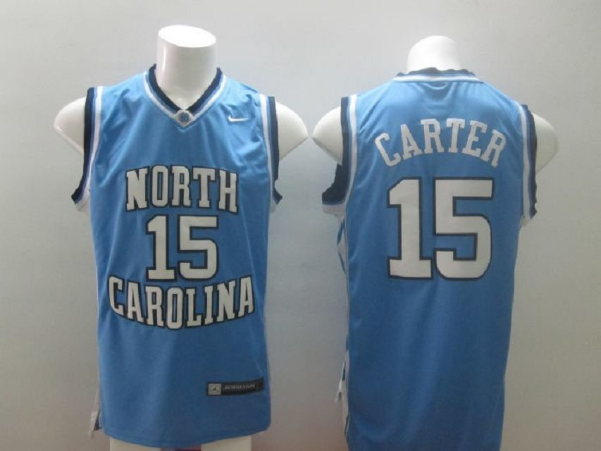 Nike North Carolina #15 Vince Carter blue Home Swingman NBA College Jersey