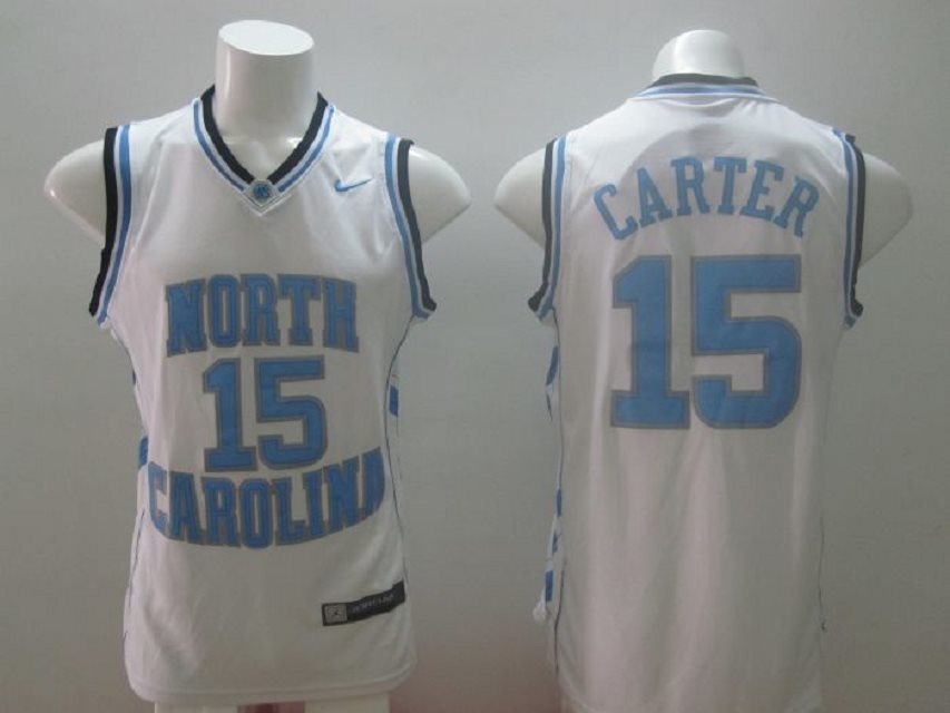 Nike North Carolina #15 Vince Carter White Home Swingman NBA College Jersey