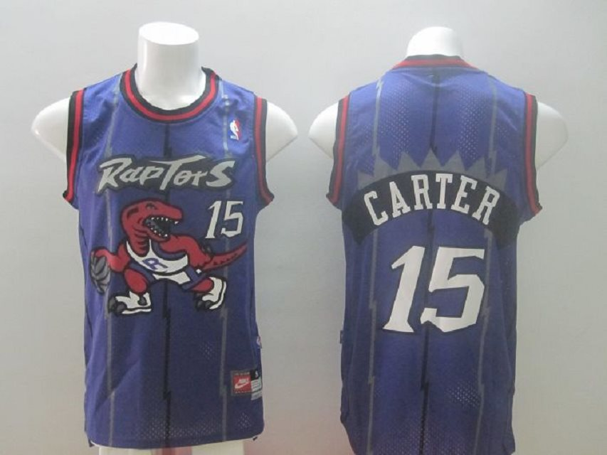 Raptors #15 Vince Carter purple Swingman Stitched NBA Jersey