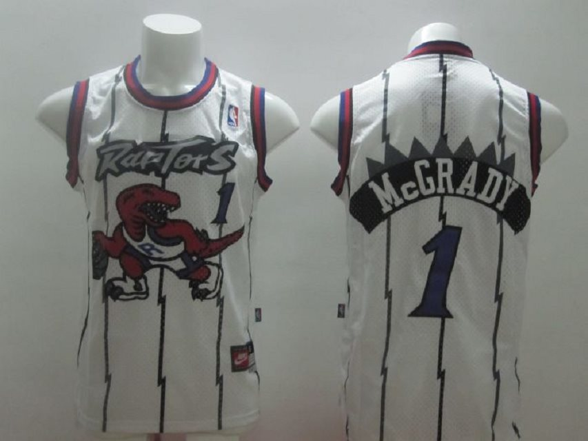 Raptors 1 Mcgrady White Swingman Stitched NBA Jersey