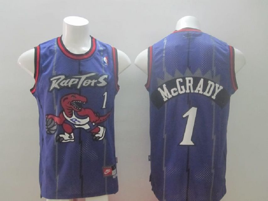 Raptors 1 Mcgrady purple Swingman Stitched NBA Jersey