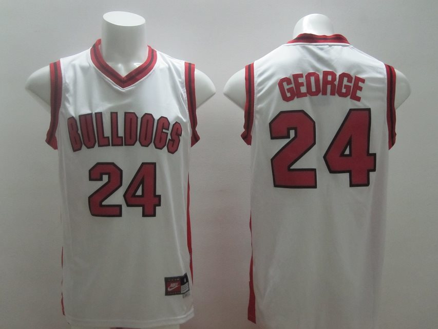 Indiana Pacers #24 Paul George Fresno State White Swingman jerseys