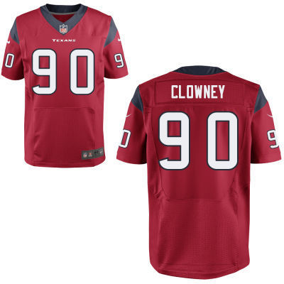 Nike NFL Houston Texans 90 Jadeveon Clowney Red elite 2014 NFL Draft jerseys