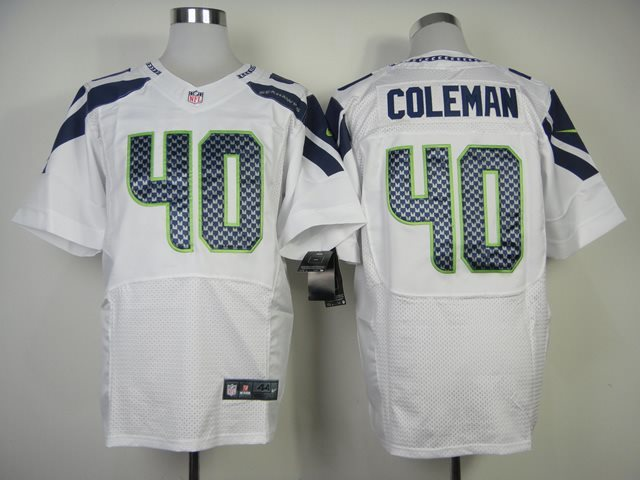 NFL Nike Seattle Seahawks #40 Coleman White Elite Jerseys
