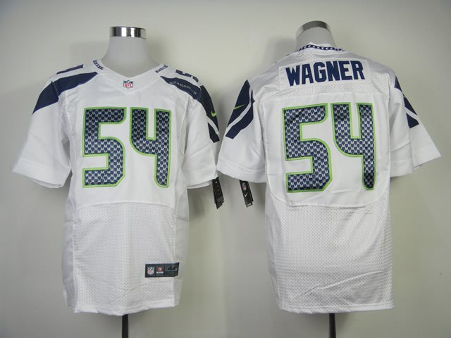 NFL Nike Seattle Seahawks #54 Wagner White Elite Jerseys