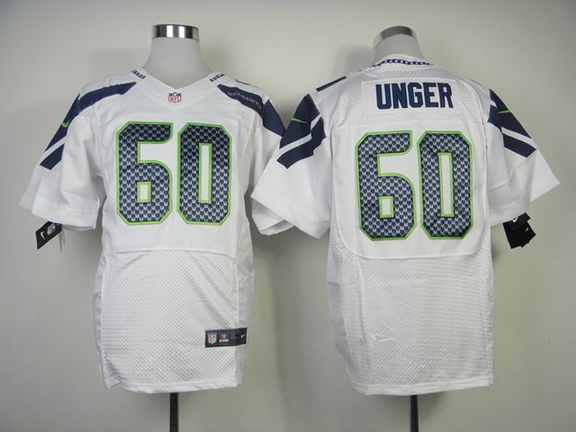 NFL Nike Seattle Seahawks #60 Unger White Elite Jerseys