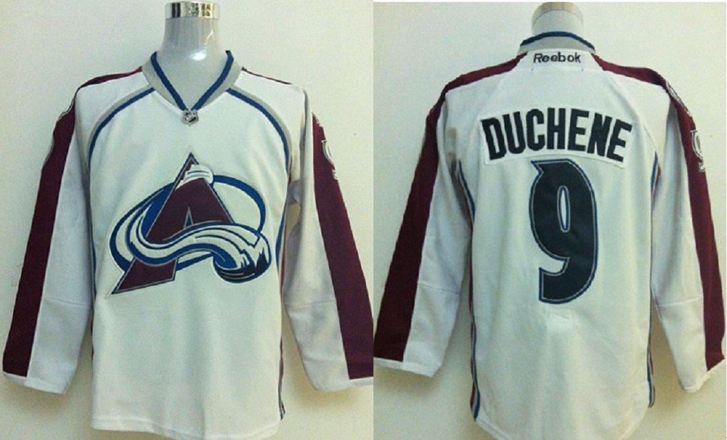 NHL Colorado Avalanche 9 Duchene White jerseys