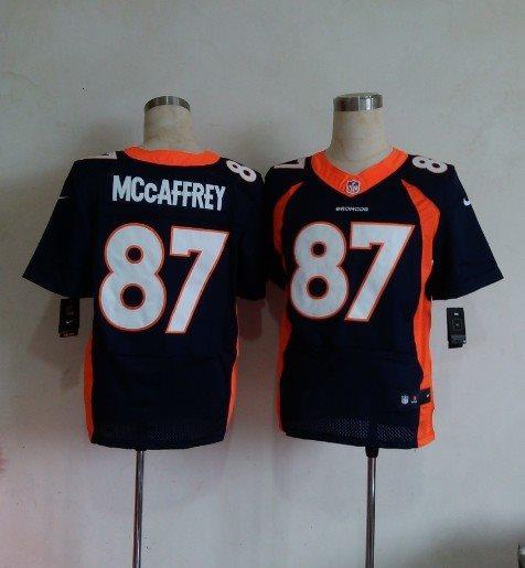 Nike NFL Denver Broncos #87 Mccaffrey Blue Elite jerseys