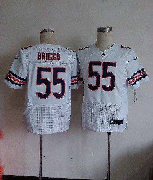 Nike NFL Chicago Bears 55 Lance Briggs White elite jerseys