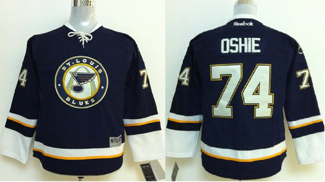 Youth NHL St. Louis Blues#74 Oshie Blue jerseys
