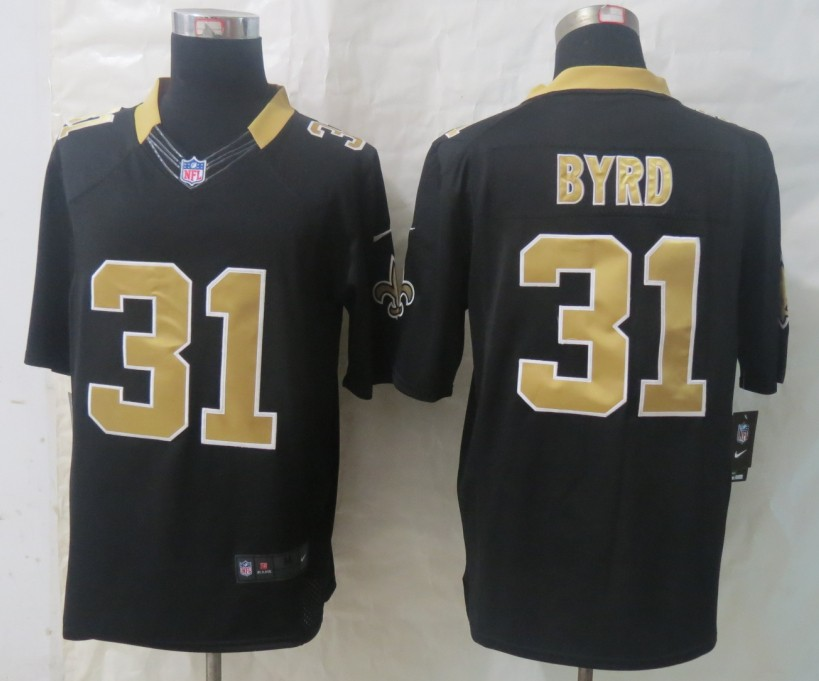 Nike New Orleans Saints 31 Byrd Black Limited Jerseys