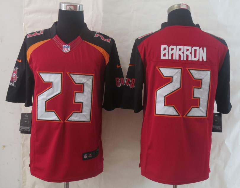 2014 New Nike Tampa Bay Buccaneers 23 Barron Red Limited Jerseys