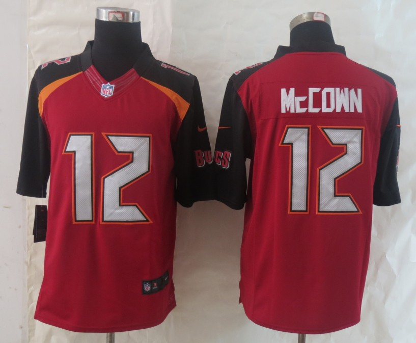 2014 New Nike Tampa Bay Buccaneers 12 McCown Red Limited Jerseys