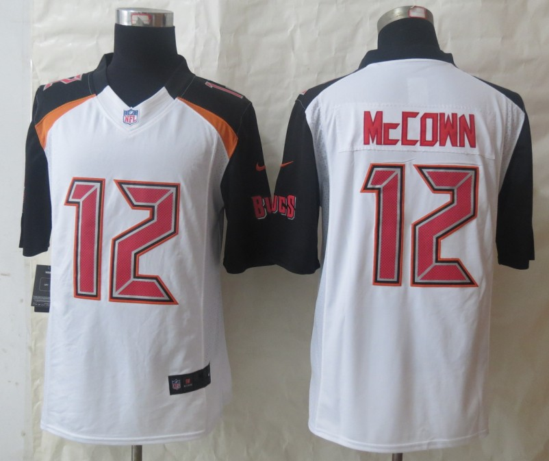 2014 New Nike Tampa Bay Buccaneers 12 McCown White Limited Jerseys