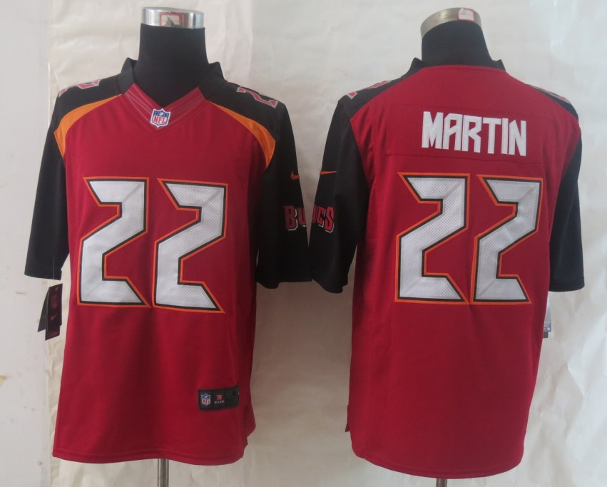 2014 New Nike Tampa Bay Buccaneers 22 Martin Red Limited Jerseys