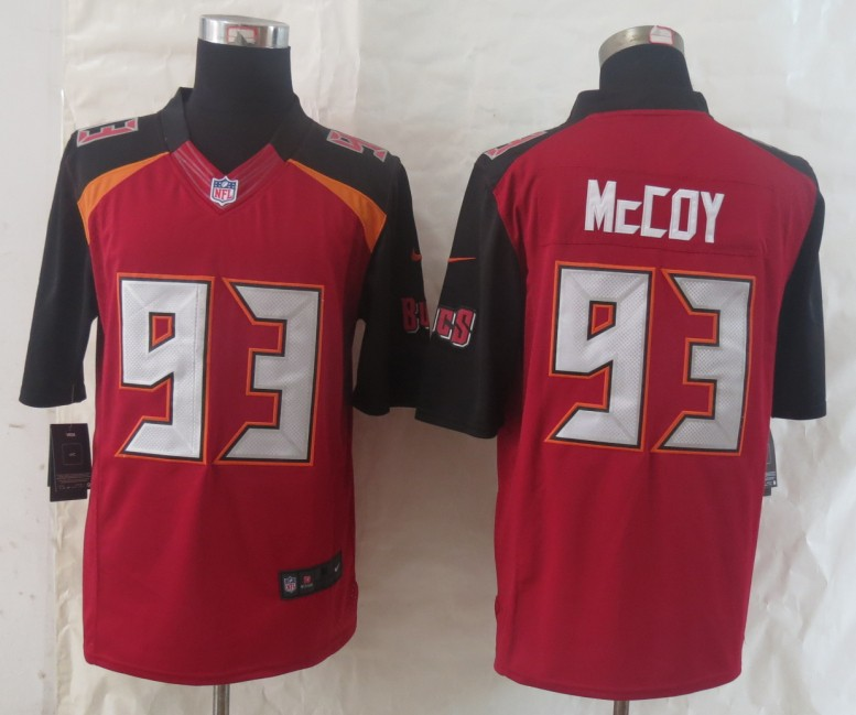 2014 New Nike Tampa Bay Buccaneers 93 McCoy Red Limited Jerseys