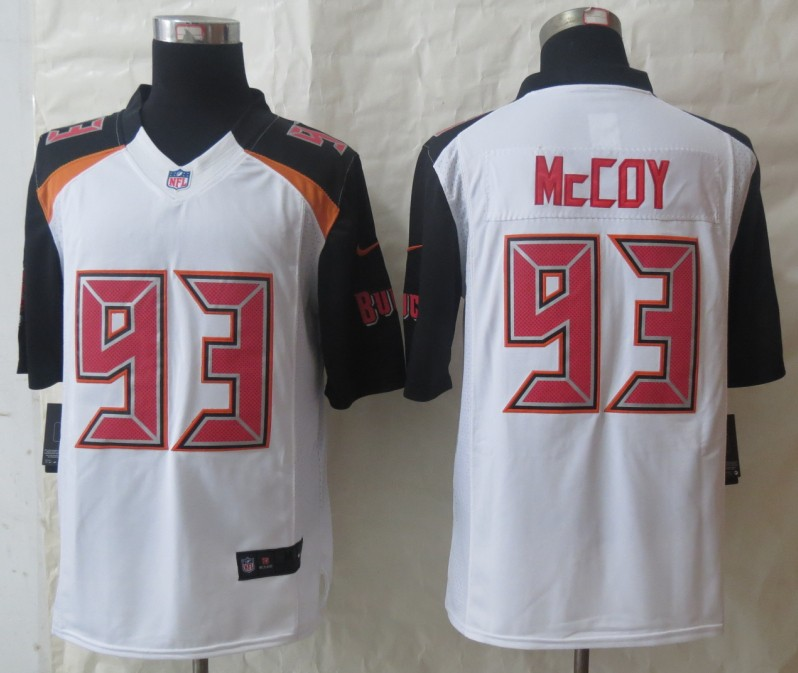 2014 New Nike Tampa Bay Buccaneers 93 McCoy White Limited Jerseys