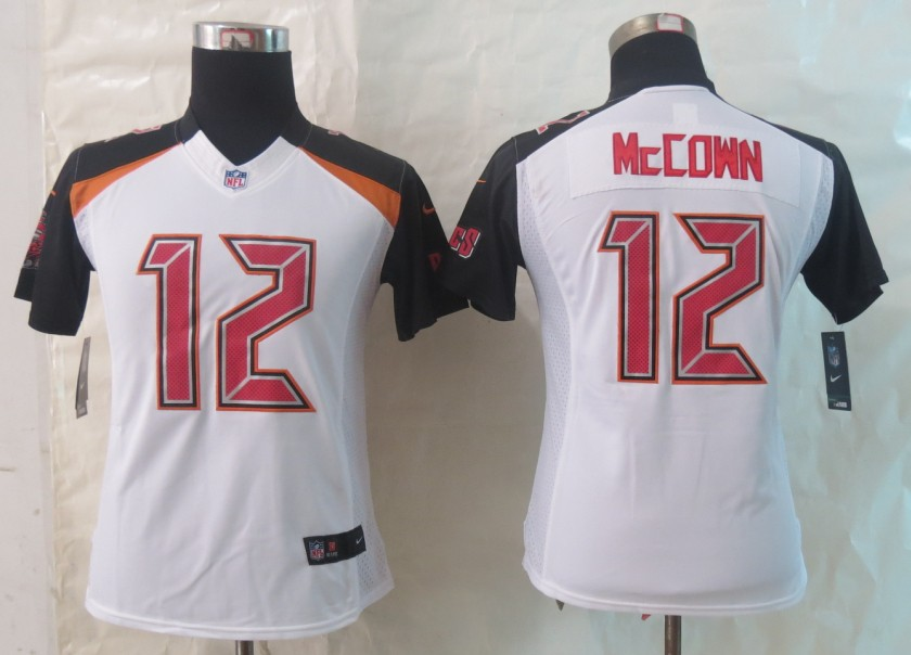 Women 2014 New Nike Tampa Bay Buccaneers 12 McCown White Limited Jerseys
