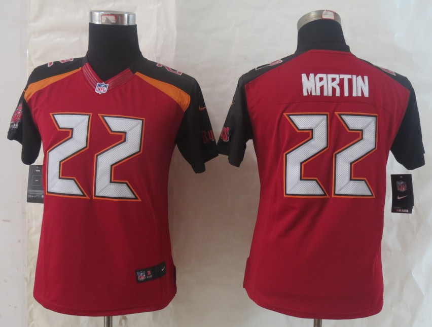 Women 2014 New Nike Tampa Bay Buccaneers 22 Martin Red Limited Jerseys