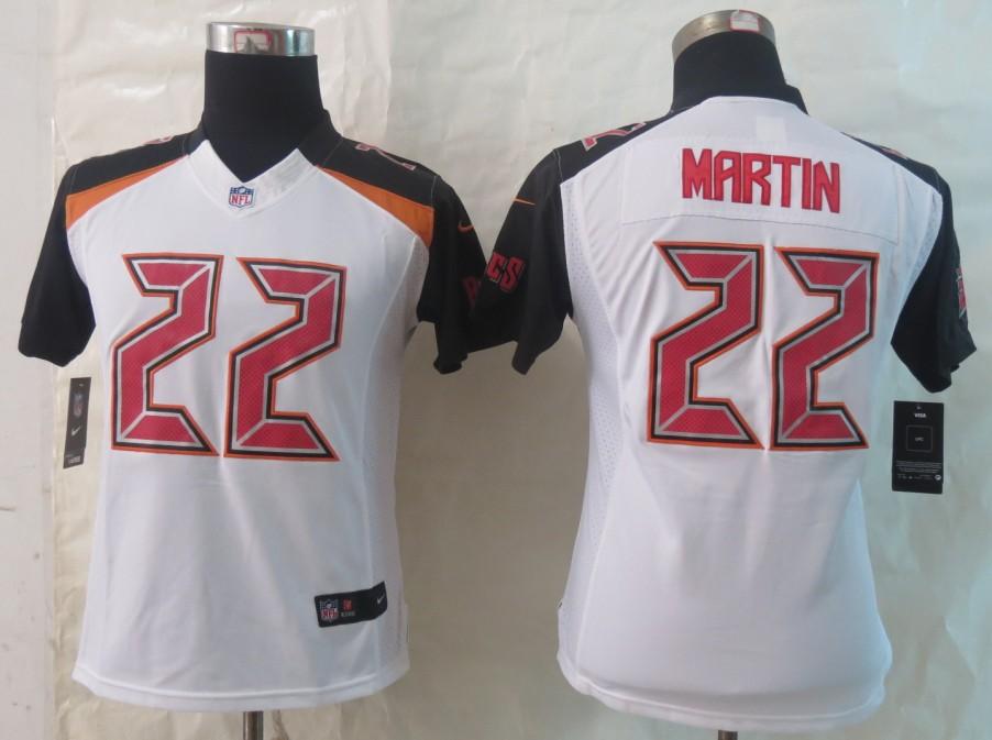 Women 2014 New Nike Tampa Bay Buccaneers 22 Martin White Limited Jerseys