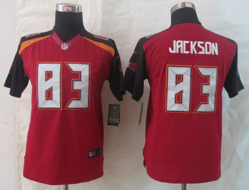 Women 2014 New Nike Tampa Bay Buccaneers 83 Jackson Red Limited Jerseys