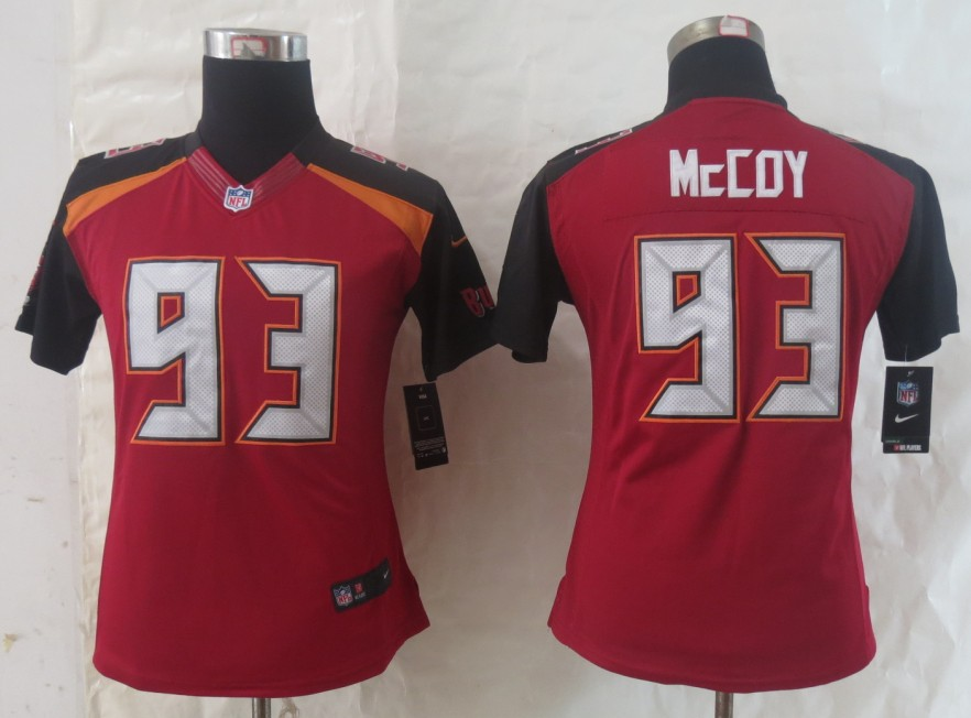 Women 2014 New Nike Tampa Bay Buccaneers 93 McCoy Red Limited Jersey